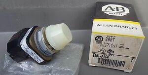 Allen Bradley Panel mount Pilot Light 800t p16w White Lens New In Box 120vac