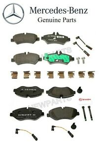 For Mercedes Benz W906 Sprinter 2500 Front Rear Brake Pad Set Sensors Kit