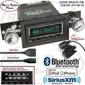 Retrosound Long Beach Cb Radio Bluetooth Ipod Usb 3 5mm Aux In 221 217 Chevy