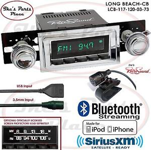 Retrosound Long Beach Cb Radio Bluetooth Ipod Usb 3 5mm Aux In 117 120 Chevy