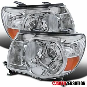For 2005 2011 Toyota Tacoma Clear Projector Headlights Pair Head Lamps