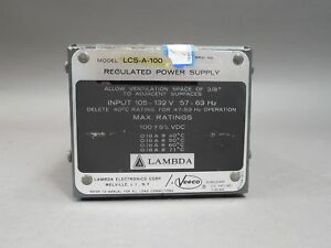 Lambda Regulated Power Supply Lcs a 100 Used
