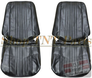 1969 1971 Chevrolet Nova Bucket Seat Covers Chevy Ii Front Upholstery Skins Ss