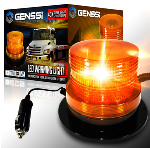 40 Led Emergency Flash Strobe And Rotating Beacon Warning Light 15w Amber