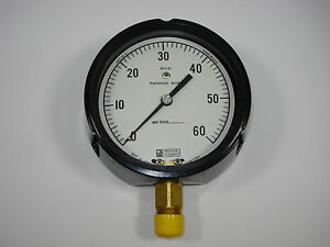 Weksler Regal 0 60 Psi Pressure Gauge 4 1 2 Dial 1 2 Npt Connection