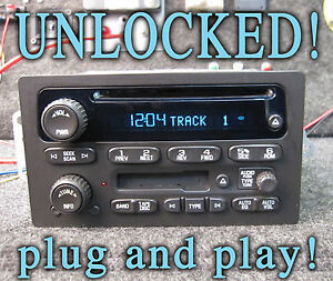 Unlocked 03 04 05 06 Chevy Gm Gmc Suv Truck Stereo Cd Disc Tape Cassette Player