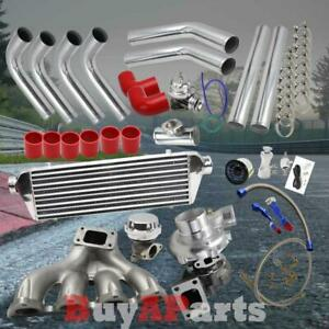 Diy Chrome Intercooler Piping Red Couplers Turbo Kit For Acura Integra B series