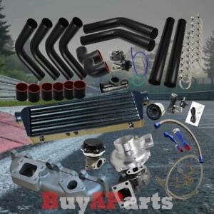 Diy Black Intercooler Piping Couplers Turbo Kit For 03 05 Dodge Neon Srt 4 2 4l