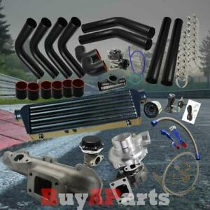 Black Intercooler Piping Couplers Turbo Kit For 95 99 Mitsubishi Eclipse 420a