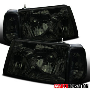 For 2001 2011 Ford Ranger Pair Smoke Lens Headlights W Corner Turn Signal Lamps