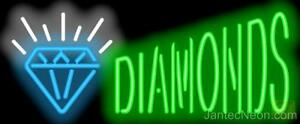 Diamonds Neon Sign Supersized Jewelry Pawn Gold Silver Buy Sell Loan Jantec Usa
