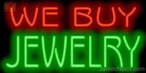We Buy Jewelry Neon Sign Pawn Shop Gold Silver Watches Jewelry Store Jantec