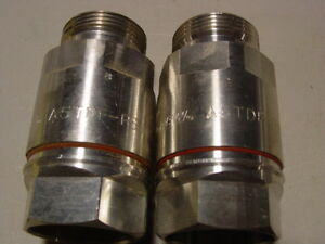 2x Used Andrew A5tdf ps Din Female Positive Stop Connector Coax Cell Cable