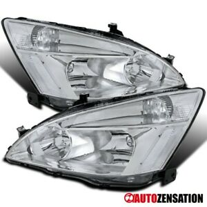 For Honda 2003 2007 Accord Ex Lx 2 4dr Pair Clear Headlights Lamps Left Right