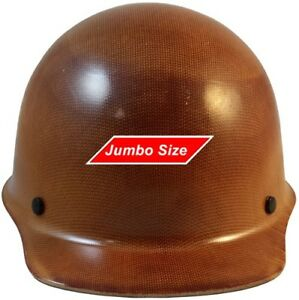 Msa Skullgard large Shell Cap Style Hard Hat Staz On Suspension Natural Tan