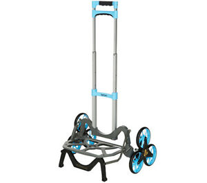 Blue Upcart All terrain Stair Climbing Folding Up Cart Moves Upto 100 pounds
