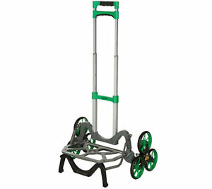 Green Upcart All terrain Stair Climbing Folding Up Cart Moves Upto 100 pounds