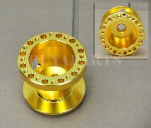 Gold Anodized 6 bolt Racing Steering Wheel Hub Adapter For Acura Integra 94 01