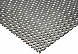 304 Stainless Steel Perforated Sheet 20 Ga 035 X 12 X 12 1 8 Holes