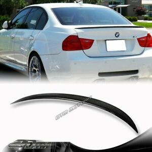 For 2006 2011 Bmw E90 4dr M3 Style Real Carbon Fiber Rear Trunk Spoiler Wing