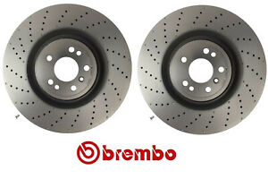 For Mercedes Gl350 450 Amg Ml550 Pair Of Front Disc Brake Rotor Brembo Set