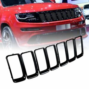 Glossy Black Vent Hole Grille Ring Insert For 2014 2016 Jeep Grand Cherokee Wk2