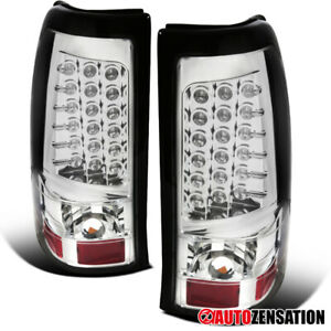 For 2003 2006 Chevy Silverado 1500 2500 Clear Full Led Tail Lights Brake Lamps