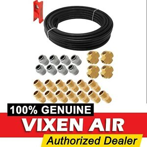 Air Suspension Set Of Fittings F eight 1 2 npt Valves With 50ft 1 2 od Hose