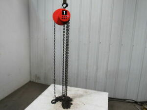 Cm Model S 1 Ton Manual Chain Fall Hoist 19 6 Lift W load Limiter Tested