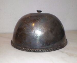 Vintage Petite Small Round Silverplate Food Cover Dome
