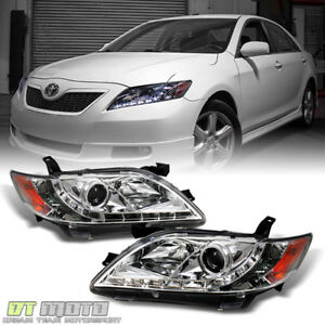 For 2007 2009 Toyota Camry Led Daytime Projector Headlights Headlamps Left right