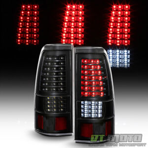 Black 2003 2006 Chevy Silverado 1500 2500 3500 Full Led Tail Lights Brake Lamps