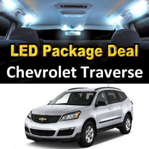 11x White Led Lights Interior Package Deal For 2009 2015 Chevrolet Traverse