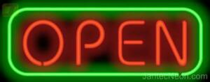 Open Neon Sign 2 Sizes Restaurant Business Bar Coffee Jantec Usa Free Shipping