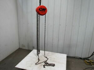 Cm Model S 1 2 Ton Manual Chain Fall Hoist 12 Lift W load Limiter Tested