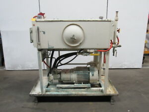 7 5hp Hydraulic Power Station Unit 100 Gal 460v Rexroth Pump Aa10vso45dfr 30r