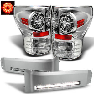 For 07 13 Tundra Philips Led Peform Tail Lights Bumper To Drl Led Conversion
