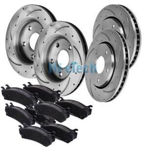 Front Rear Drill Slot Brake Rotors Ceramic Pads For Toyota Avalon Camry