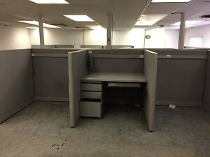 Lot Of Kimball Call Center Cubicles 4 X 5 42 Tall Grey Buyer Removes