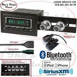 Retrosound Long Beach Cb Radio Bluetooth Ipod Usb Mp3 3 5mm Aux In 221 251 Ford