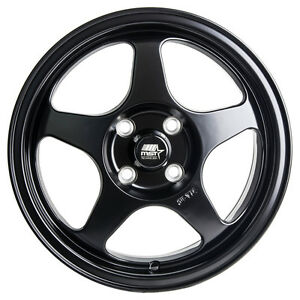 Mst Wheels Mt29 15 X 6 5 35 Flat Black Rims 4x100 Replica Spoon Sport Style