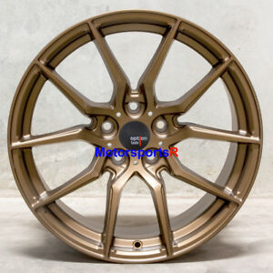 Option Lab R716 18 X9 5 35 Bronze Rims Wheels 5x114 3 Mitsubishi Evolution X Mr