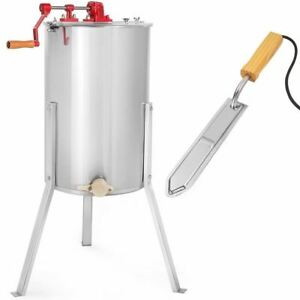 Uncapping Knife Stainless Steel Bee Honey Extractor Tank Beekeeping Honeycomb