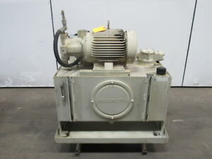Rexroth 06 973752 01 01 15hp Hydraulic Power Station Unit 40 Gal 230 460v 3ph
