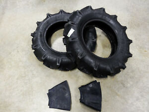 Two New 8 16 Bkt Tr 144 Farm Tractor Lug R 1 Tires With Tubes