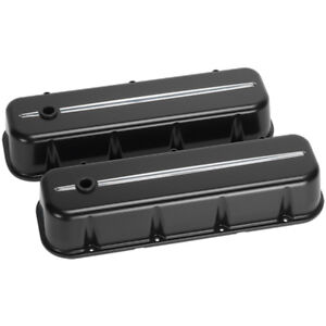Billet Specialties 96124 Aluminum Valve Covers Streamline Chevy Big Block Black