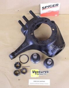 Chevy Dana 44 Flat 10 Bolt Top Knuckle Left Hand Side Ball Joint 1 2 3 4 Ton