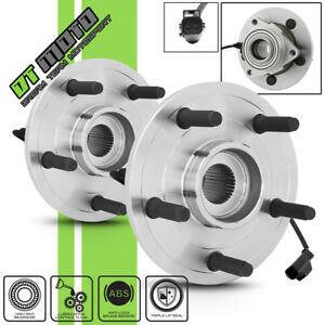 Pair 2 515073 Front Wheel Hub Bearing W Abs Assembly For 2002 05 Dodge Ram 1500