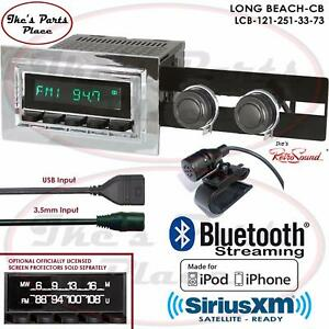 Retrosound Long Beach Cb Radio Bluetooth Ipod Usb Mp3 3 5mm Aux In 121 251 F