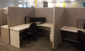 Lot Of 150 Steelcase 6 X 6 Budget Office Cubicles Grey Beige Neutral Color